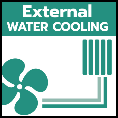 External water cooling