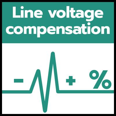 Line voltage compensation