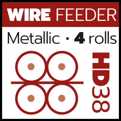 MIG_Metallic wire feeder 4 rolls HD38