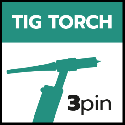 Remote TIG Torch 3 pin