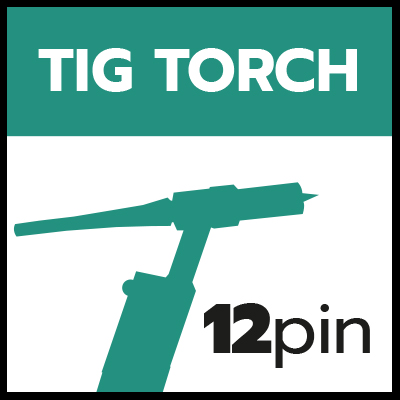 Remote TIG Torch 12 pin