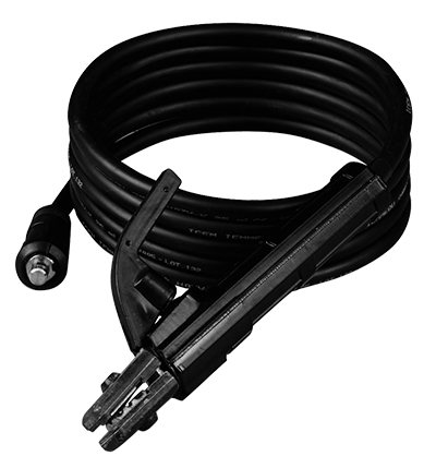 Welding cable with electrode holder - 2,4m - 10mm2 - 140 Amp - 25mm2 connector