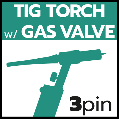 TIG Torch with Gas Valve