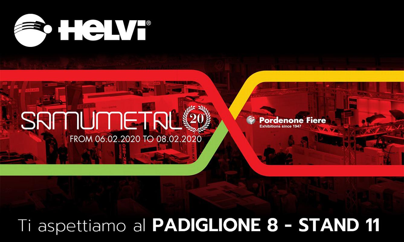 "We will be exhibiting at ""SamuMetal 2020 · Pordenone"" from February 6th to 8th, 2020."