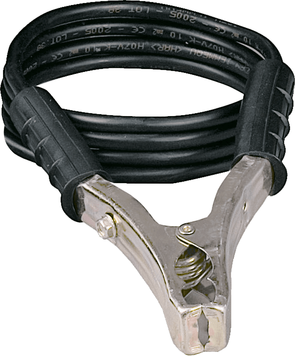 Ground cable with clamp - 1,8m - 10mm2 - 120Amp